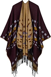 Chal Mujer Cardigan Poncho Cape Elegante Chal Abrigo Suéter Abrigo para Invierno Cardigans
