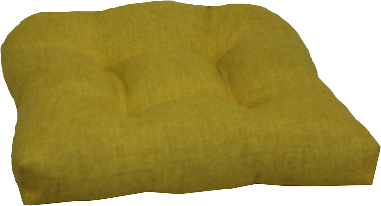 Brentwood Originals Indoor Outdoor Chair Cushion Brentwood, Yellow, 1 piece