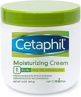 Cetaphil Fragrance Free Moisturizing Cream for Very Dry/Sensitive Skin, 16 Ounce