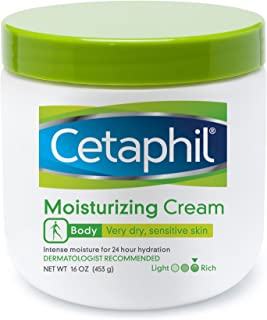Cetaphil Fragrance Free Moisturizing Cream for Very Dry/Sensitive Skin, 16 Ounce