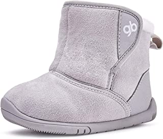 Girls Boys Snow Boots Warm Winter Fur Lined Baby Shoes (Infant/Toddler/Little Kid)