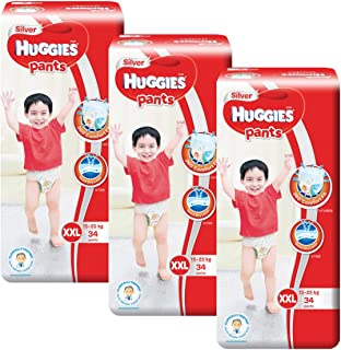Huggies Silver Double Extra Large Pants, Carton, 34ct (Pack of 3)