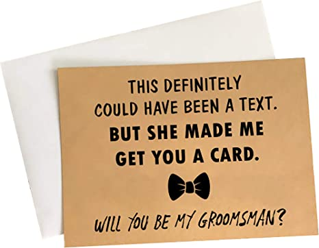 These Awesome Groomsmen Proposal Cards