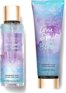 Victoria Secret In Bloom Fragrance Mist and Lotion Set (2PC) - 8.4 fl oz & 8 fl oz (Love Spell in Bloom)