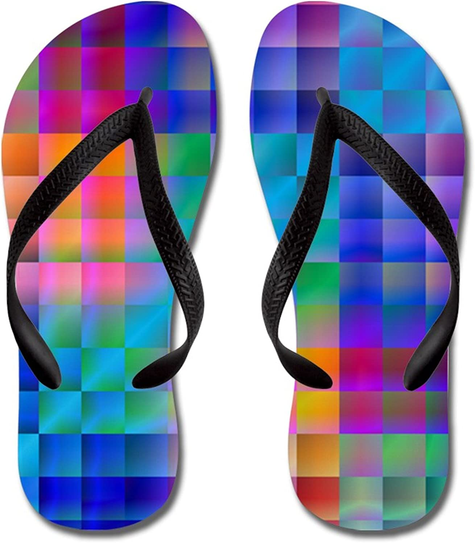 Lplpol Psychedelic Rainbow Sandals Adults Flops Flip for Popular trust overseas