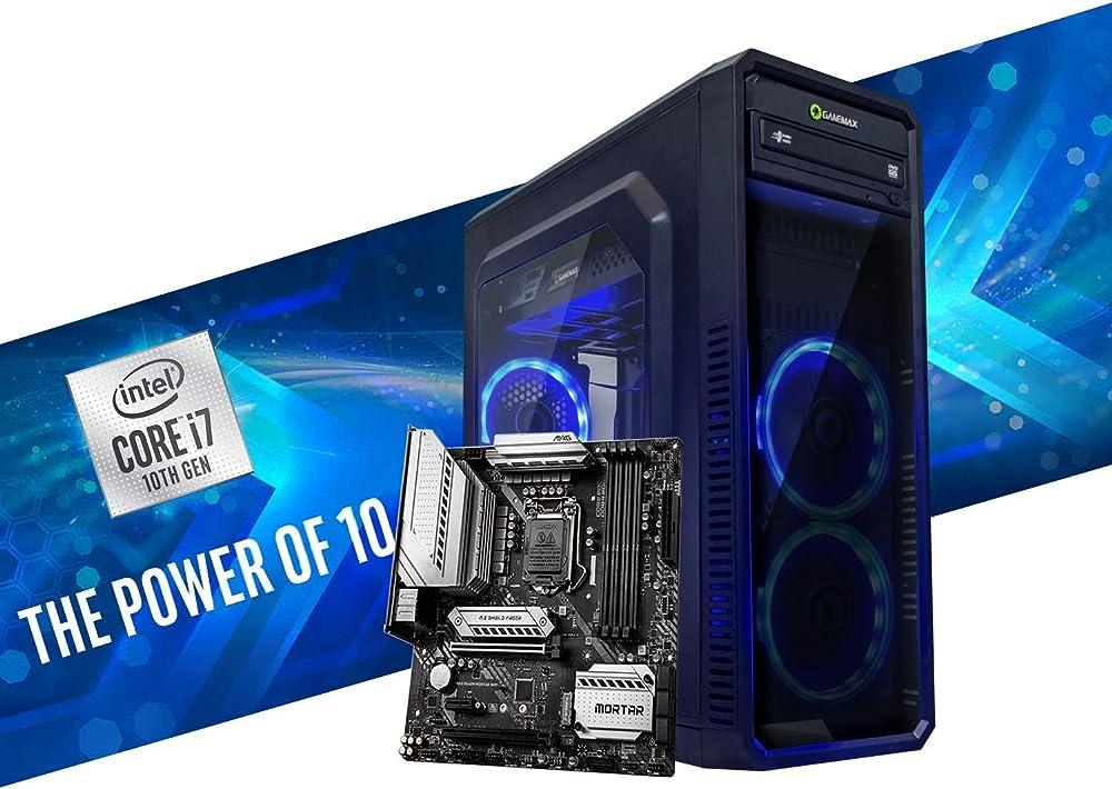 Mak office p pc fisso intel i7 8 core 4 80ghz turbo ssd nvme 500gb ram 16gb ddr4