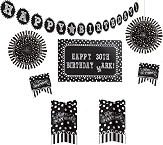 Amscan 241143 Party Décor, Assorted Sizes, Black/White