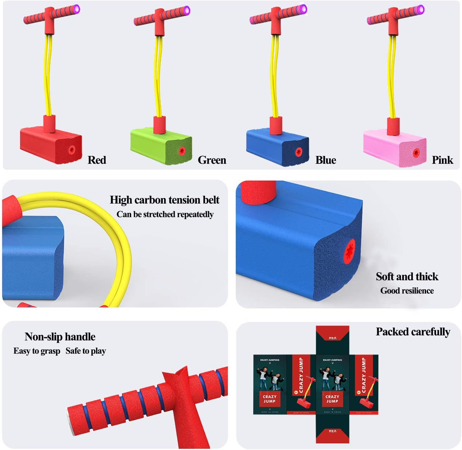 Interesting Sounding and Luminescent Novelty Boys and Girls with Indicator Lights and Sound Toys. EUMENIDES Childrens Indoor and Outdoor Toys Height Balance Training Equipment Jumping Toys red