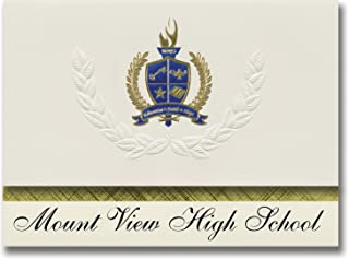 Signature Announcements Mount View High School (Welch, WV) Graduation Announcements, Presidential style, Elite package of ...