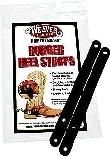 Weaver Black Rubber Heel Straps