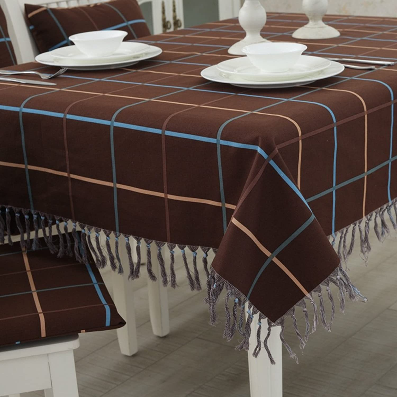 ASL Tischdecke Gitter einfache Tischdecke Rechteck Quaste Baumwolle und Leinen Kaffee Tischdecke wählen ( Farbe   C , größe   135135cm ) B078B9MXDQ Förderung | Haben Wir Lob Von Kunden Gewonnen