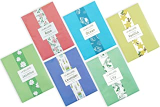 LA BELLEFÉE Scented Sachets Bags for Drawers Closets Room Wardrobe Bathrooms Cars 30g (6 Pack)