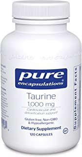 Pure Encapsulations Taurine 1,000 mg | Amino Acid Supplement for Liver, Eye Health, Antioxidants, Heart, Brain, and Muscle...