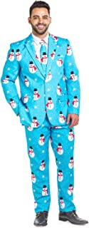 Men's Christmas Suit Snowman is an Island Blazer+Tie and...