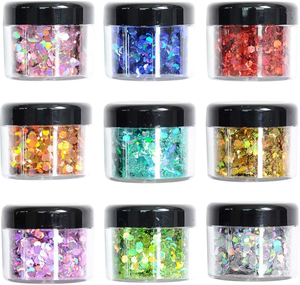 Over item handling Euone_Home Glitter Cosmetic Festival Body Fashion Chunky Nai for