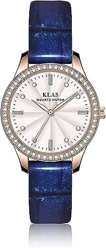 2021 KLAS Three-Hand Leather Watch Casual high quality Quartz online sale Women Wristwatches outlet sale