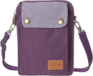 Cell Phone Purse Wallet Canvas Big Pocket Women Small Crossbody Purse Bags