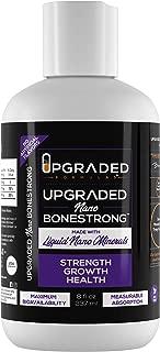 Upgraded Vegan Keto Calcium Boron Magnesium Bonestrong | Liquid Nano Minerals Superior Absorption Supplement | Natural Gluten Free Bone Strength Growth Support Sugar Free | 8 oz