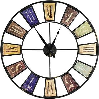 comprar comparacion Reloj de pared de metal estilo vintage–Diámetro 60cm