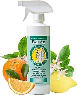 Easy Air 16-oz. Allergy Relief Spray, 100% Organic Anti-Allergy Spray, Dust Mite Allergy Natural Remedy, Fr...