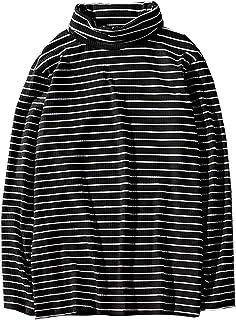 Hotmiss Men's Turtleneck Striped Hipster Hip Hop Pullover Long Sleeve T-Shirt Top