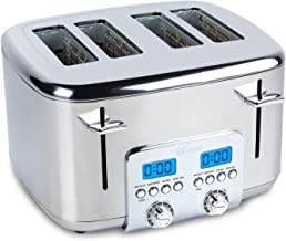 All-Clad TJ824D51 Stainless Steel Digital Toaster with Extra Wide Slot