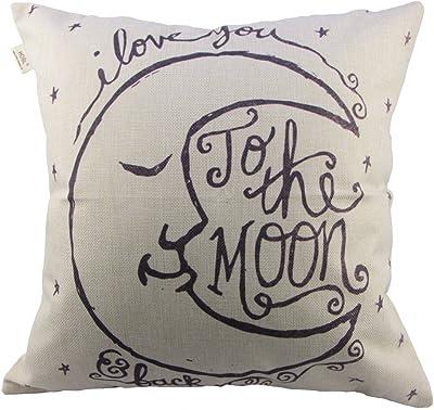 Black XXYsm Home Decor Cushion Cover Sun Moon Pattern Throw Pillowcase Pillow Covers For Car
