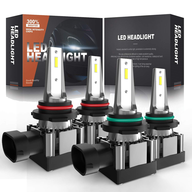 LED Headlight Bulb High Beam Kit 9005 6000k White For 2002-2007 Buick Rendezvous