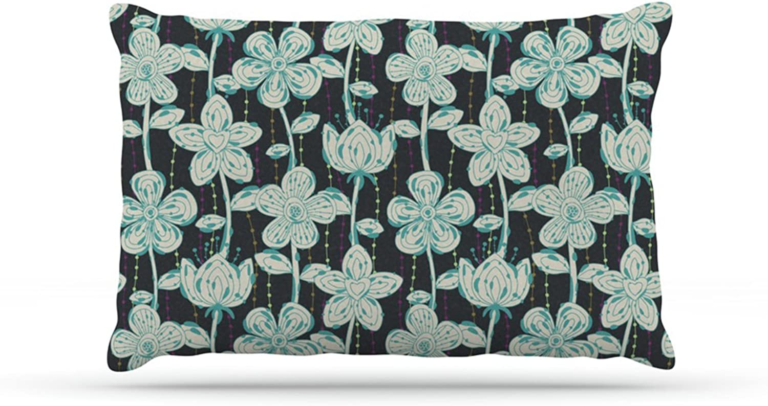 Kess InHouse Julia Grifol My Butterflies and Flowers  Dog Bed, 50 by 60Inch