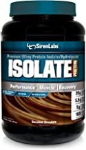 Siren Labs Isolate Premium Whey Protein Isolate and Hydrolysate with Glutamin for Lean Muscle Growth, Athletic Performance, Recovery - Decadent Chocolate - 30 Servings