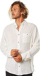 Insight Men's Louie Mens Ls Shirt Long Sleeve Cotton White