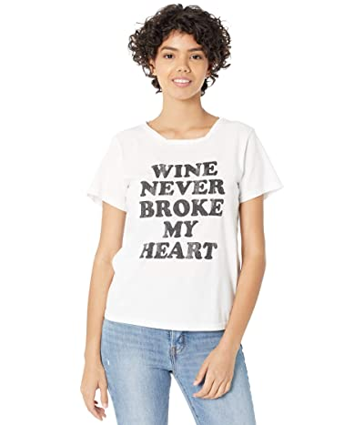 The Original Retro Brand Wine Never Broke My Heart Vintage Cotton Short Sleeve Tee
