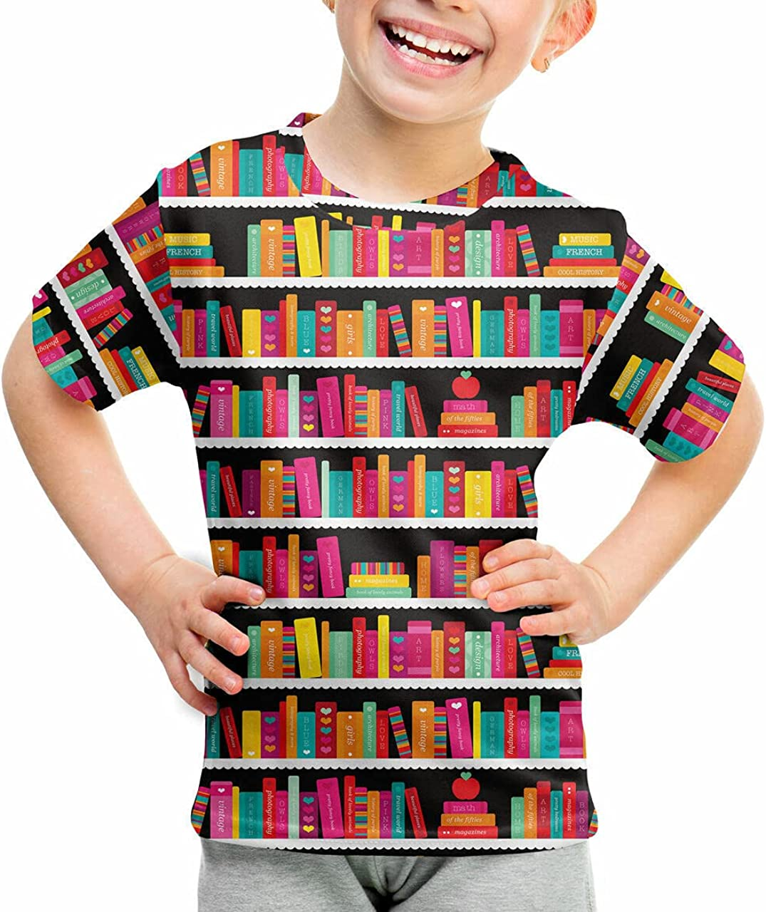 Youth Regular discount Cotton Blend Ranking TOP16 T-Shirt - Library Case Book