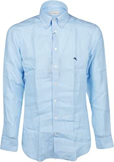 ETRO Luxury Fashion Mens 1K96461170250 Light Blue Shirt |