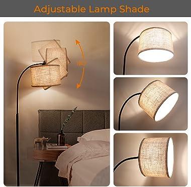 "Suraielec Arc Floor Lamp for Living Room, Bedroom, Office, 72""-66.55"" Adjustable Height, Industrial Farmhouse Tall St"