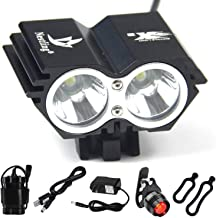 9800lm,7 LED,3 Modes Head lamp with 6PCS 18650 Rechargeable Li-thium Batteries Packing ; Including 2 PCS Fashion Bicyle Taillights . Constefire Bicycle Light 7X XML U2 Bicycle Lights ,Headlight