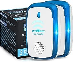 ExtraDisist Ultrasonic Pest Repeller, Pest Reject, Mosquito Killer, Pest Repellent, Pest Control Ultrasonic Repellent, Mosquito Repellent, Mouse Traps-2 Packs