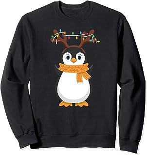 Pinguino Navidad Reno Papá Noel Feliz Amor Bebe Peluche Sudadera