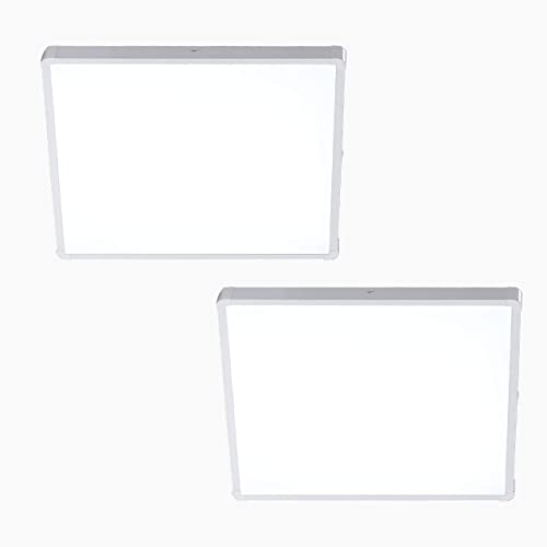 lowest FINXIN outlet online sale LED Flush Mount Ceiling new arrival Light,18W Cool White 6000K Milk White Square Lighting Fixture for Closets, Kitchens, Stairwells, Basements, Bedrooms, Washrooms (2 Pack) sale