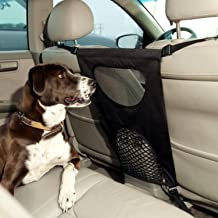 GoodStore Dog Barrier, Pet Dog Car Barrier Seat Mesh Obstacle, Oxford Cloth Dog Backseat Barrier Adjustable Divider to Keep Driver Safety, Easy to Install for Car,SUV,Truck (Black) (Black)