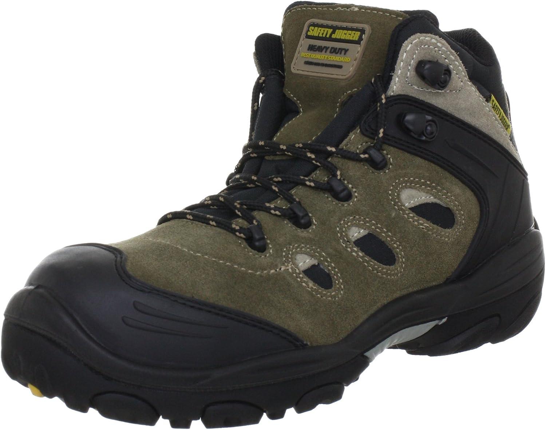 Safety Jogger Xplore S3 Unisex-Adults Safety shoes , Gr. 42 , Beige (BLACK TAUPE SAFARI BLACK)