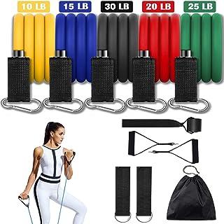Portzon Resistance Band Set, Workout Bands, Exercise Bands Door Anchor Handle Resistance Training, Convenient, Durable, Ex...