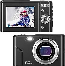 IEBRT Ultra HD Digital Camera,1080P Mini Vlogging Camera Video Camera LCD Screen 16X Digital Zoom 36MP Rechargeable Point ...