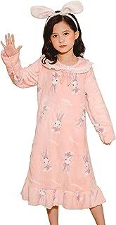 CRAZY GOTEND Camicie da Notte in Cotone per Ragazze Abito Lungo Animale per Bambini Pigiama Camicia da Notte Principessa