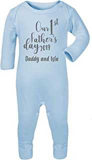 Personalised Our First Father's Day 2019 Babygrow Baby Vest Romper New Dad Gifts First Fathers Day Gifts Babywear Girls Boys