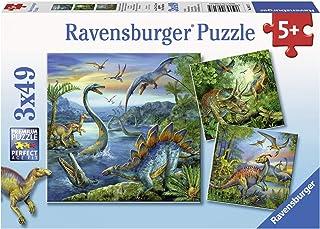 Ravensburger 9317 Dinosaur Fascination Puzzle 3x49pc,Children's Puzzles