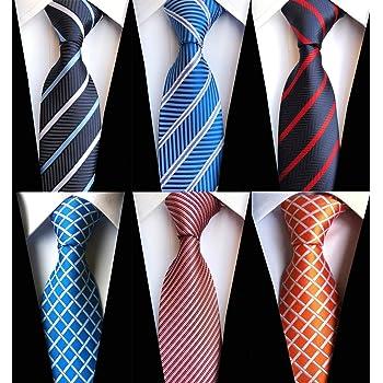Lot 6 pcs Classic Mens Tie Silk Necktie Woven Jackquard Neck Ties Gift Box Lizzton 19133