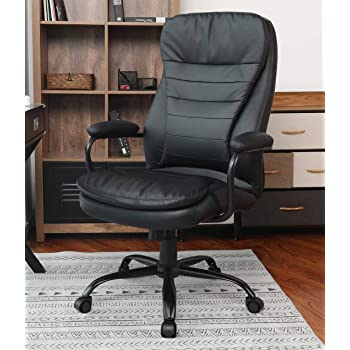 Amazon Com Amolife Office Chair Heavy Duty Executive Computer Chair Adjustable Desk Chair Large Home Office Chair With Armrest Bifma Certification No 5 1 Office Products