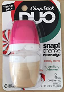 Chapstick DUO Holiday Pack Candy Cane & Vanilla Shimmer