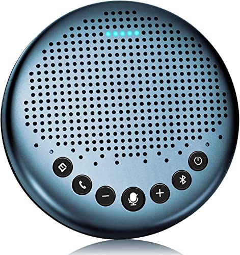 high quality Bluetooth Speakerphone outlet online sale -eMeet Luna Lite outlet sale Computer Speakers with Microphone, VoiceIA Noise Cancelling USB Speakerphone, Daisy Chain, Conference Microphone 360° Pickup for 8 People Skype for Business outlet sale